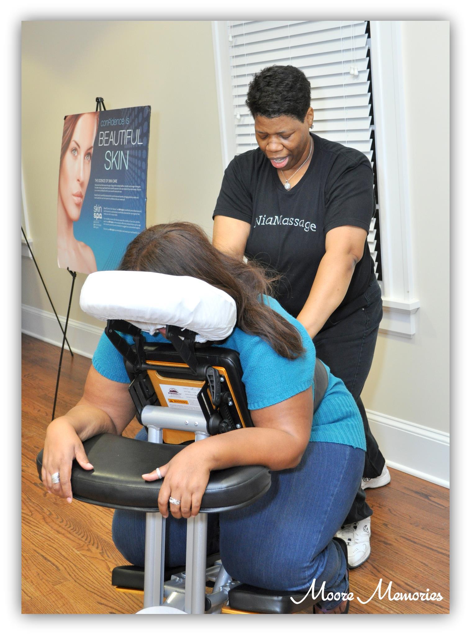 Chair Massage - Atlanta Pampered Ladies Expo - Photo Credit Moore Memories